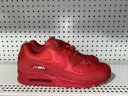 Nike Air Max 90 Essential Mens Athletic Running Shoes Size 13 Triple Red
