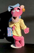 """Pink Panther Touch Of Velvet 16"""" Plush Toy 1980 With Two Original Tags"""