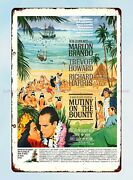 1962 Mutiny On The Bounty Movie Metal Tin Sign Outdoor Tin Signs
