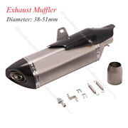 Universal Dirt Bike Motorcycle Exhaust Muffler With Silencer Modified Scooter