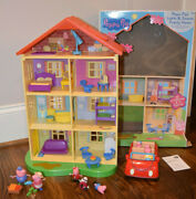 Peppa Pigand039s Lights And Sounds Family Home Car Figures Playset House