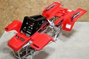 Yamaha Banshee Fenders + Gas Tank Plastic + Grill + Graphics Black And Red 2007