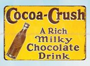 Cocoa Crush Milky Chocolate Drink Metal Tin Sign Cheap Metal Signs