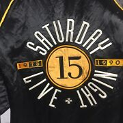 Saturday Night Live 90and039s Jacket Satin Bomber 15th Anniversary Vintage Size M
