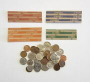2000 Coin Wrappers Mixed  500 Each Of Quarter Dime Nickle And Penny Wrappers