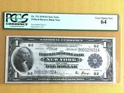1918 1 Federal Reserve Bank Note - New York - Pcgs 64 Very Choice New - Fr. 713