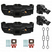 Exhaust Manifold 4 In Elbow Complete Kit Mercruiser Gm V8 Dry Joint 865735a02