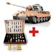 116 Torro King Tiger Rc Tank 2.4ghz Airsoft Metal Edition And Solution Box