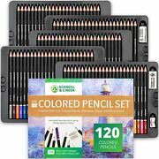 Norbergarts Xxl Colored Pencil Set - 120 Art Pencils And Drawing Pad