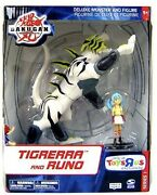 Bakugan Battle Brawlers Tigrerra And Runo Toys R Us Deluxe Monster Action Figure