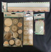 Martha Stewart Crafts Country Doily Stickers Seals, Borders, Tags, Bundle Lot 4
