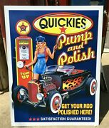 Outdoor Signs / Garage Signs For Men / Quickies Sign / Gas And Oil / Petroliana