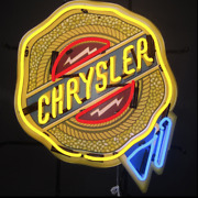 Dodge Chrysler Badge Neon Sign With Backing / Dodge Neon Sign / Chrysler Signs