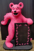 Pink Breast Cancer Awareness Bear Advertising Statue W/ Sign Freight Shipping