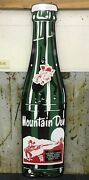 6 Foot Mountain Dew Bottle Sign Die Cut Aluminum Reproduction Sign Gas And Oil