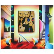 Ferjo Gallery Of Miro Original Painting On Canvas Hand Signed.