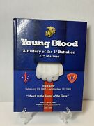 Young Blood History 1st Battalion Marines Vietnam Signed By Soldiers
