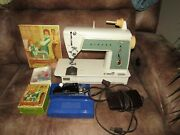 Singer 649 Sewing Machine W/foot Control Pedal And Accessories