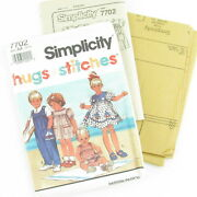 Simplicity Overalls Dress Sewing Pattern 7702 Size 1/2-2 Toddler Girl Uncut Ff