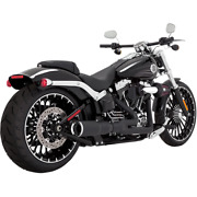 Vance And Hines 46545 - Harley Davidson Exhaust High Output 2-1 Black Breakout