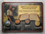 2009 Ultimate Lincoln Anniversary Cents The Formative Years 4 Coin Set Unique