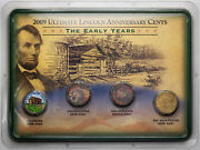2009 Ultimate Lincoln Anniversary Cents The Early Years 4 Coin Set Monster Gems