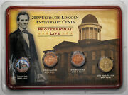 2009 Ultimate Lincoln Anniversary Cents Professional Life 4 Coin Set Gorgeous