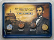 2009 Ultimate Lincoln Anniversary Cents Presidency 4 Coin Set Monster Color Gem