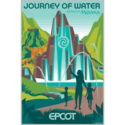 Epcot Journey Of Water Moana Poster Numbered Le 100 Disney Parks Limited