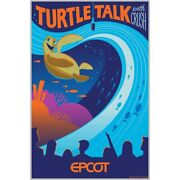 Epcot Turtle Talk With Crush Poster Numbered Le 100 Disney Parks Limited