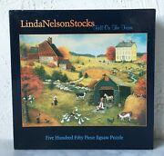 Fall On The Farm Linda Nelson Stocks 550 Ceaco Jigsaw Puzzle 24x18 Complete