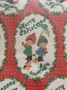 Vintage Christmas Holiday Shirt Gift Boxes 4 Assorted Wrapping Paper New In Pkg