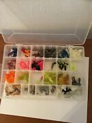 Vintage Plano Tray Tackle Box Fishing With Over 100 Lures Wide Variety