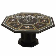 36 Marble Dining Table Top With 24 Stand Semi Precious Birds Inlay Dandeacutecor B311a