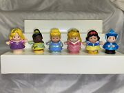 Lot Of 6 Fisher Price Little People Disney Princess Figures Snow White Tiana