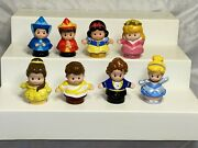 Lot Of 8 Fisher Price Little People Disney Princess And Figures