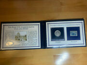 The First U.s. Commemorative Coin And Stamp Us 1892 Half Dollar 1893 1 Cent New