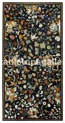 40x60 Marble Dining Table Top Multi Floral And Birds Inlay Christmas Decor B335a