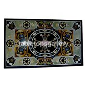 4and039x3and039 Marble Top Beautiful Dining Table Scagliola Inlay Art Interior Decor B341b