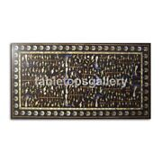 5and039x3and039 Marble Dining Table Top Multi Peacock Fine Inlay Art Furniture Decor B344b