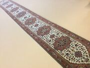 2andrsquo.6andrdquo X 19andrsquo.6andrdquo Beige Rust Geometric Oriental Rug Long Runner Hand Knotted Wool