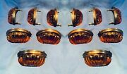 Classic Kitchen Cabinet Pulls Amber Crystal Set Of 12 Home Decor 0170-70276a