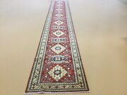 2andrsquo.8andrdquo X 18andrsquo.4andrdquo Red Beige Fine Geometric Oriental Rug Long Runner Hand Knotted
