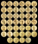 Complete Presidential Dollar Set Brilliant Uncirculated Us 40 Coins Total