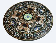 42 Marble Top Dining Table Marquetry Multi Floral Inlay Art Garden Decor B358a