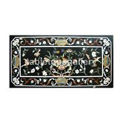 28x55 Marble Dining Table Top Precious Floral And Birds Inlay Living Decor B359