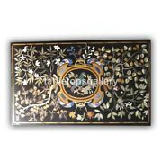 4and039x2and039 Marble Dining Table Tops Precious Inlaid Parrot Art Gift B369a