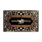 4and039x2and039 Marble Dining Table Top Semi Precious Birds And Floral Inlay Arts Decor B379