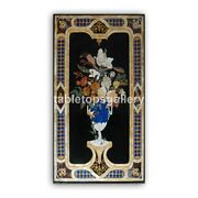 4and039x2and039 Marble Designer Dining Table Top Inlaid Flower Vase Art Living Decor B385