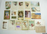 18 Antique Christmas Religous Holiday 1900and039s Colorful Postcards